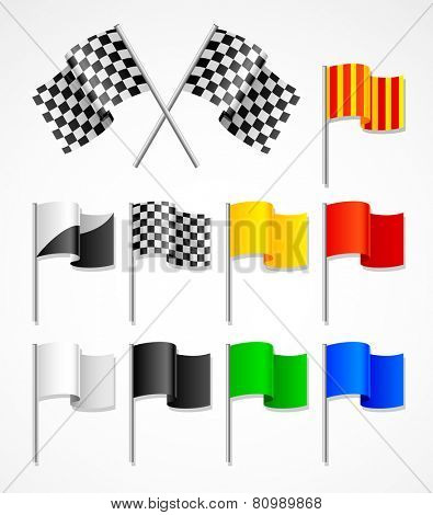 set of sport flags