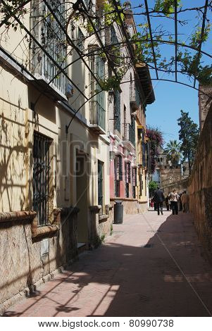 Alleyway in the old town, Seville.