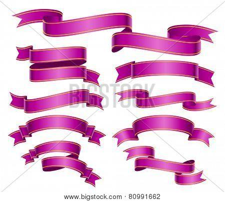 purple banners set. eps8
