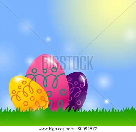 Easter card with Easter egg. eps10