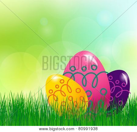 Spring background with Easter egg. eps10