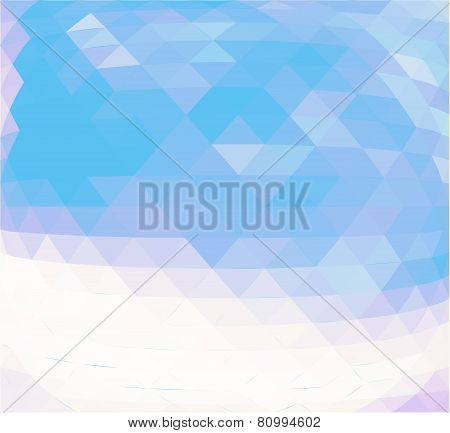 Abstract Blue Triangle Geometrical Background -