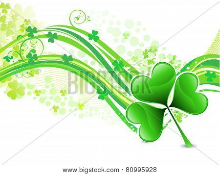 Abstract Artistic St Patrick Wave Background