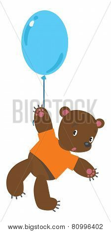 Little bear with balloon