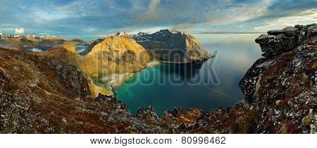 Beauty Landscape In Norway, Lofoten Beach