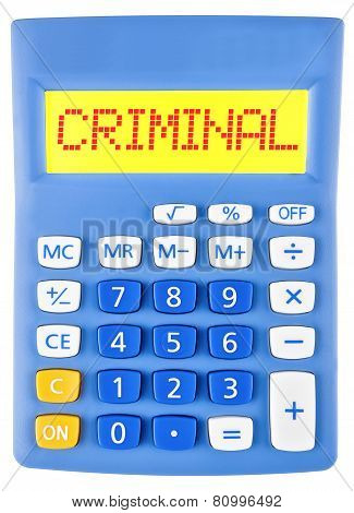 Calculator With Criminal