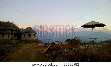 Himalayan Motel At Sunrise
