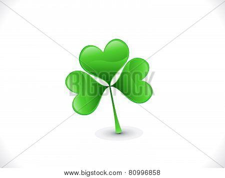 Abstract Shiny Artistic St Patrick Clover
