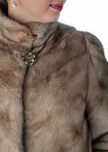 stock photo of mink  - Details of winter women - JPG