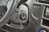 picture of key  - car key key in the zapalovani ready to start