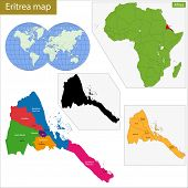 stock photo of eritrea  - Administrative division of the State of Eritrea - JPG