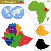image of ethiopia  - Administrative division of the Federal Democratic Republic of Ethiopia - JPG