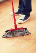 picture of broom  - cleaning and home concept  - JPG