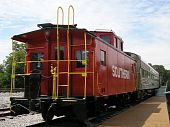 picture of caboose  - This is a photo of a red caboose in Memphis - JPG