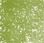 stock photo of fleur de lis  - Fleur de lis scattered pattern in green spectrum - JPG