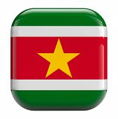picture of suriname  - Suriname flag icon isolated on white background - JPG