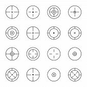 stock photo of sniper  - set of different types of crosshair - JPG