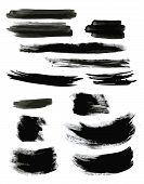 picture of stroking  - Big set of grunge brush strokes - JPG