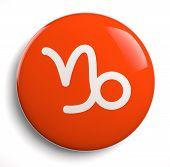 stock photo of capricorn  - Capricorn zodiac astrological symbol icon on white - JPG