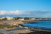 stock photo of galway  - A view of the coast at Spiddal - JPG
