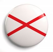 picture of alabama  - Alabama state flag isolated icon on white - JPG