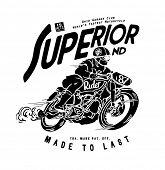 stock photo of carburetor  - old motorcycle racer illustration - JPG