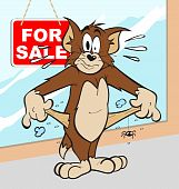 stock photo of cartoon character  - Illustration of a broke cat cartoon character - JPG