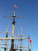 pic of yardarm  - tallship masts - JPG