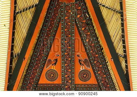 Decorated Facade Of The Traditional House In The Tana Toraja