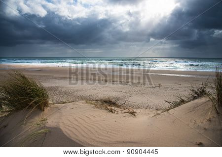 View of Aquitaine Beaches, France