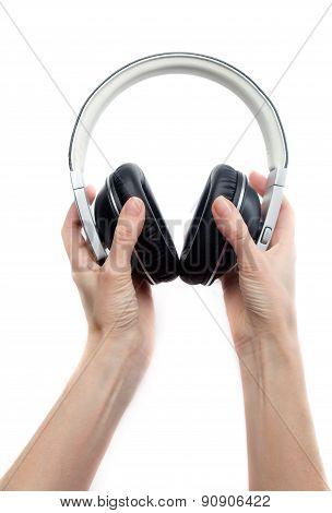Headphones In Hands