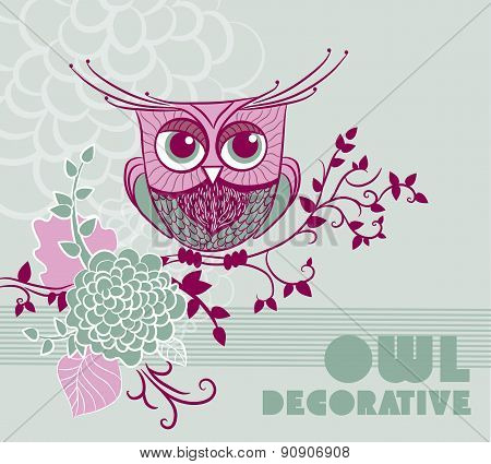 Abstract Owl Background