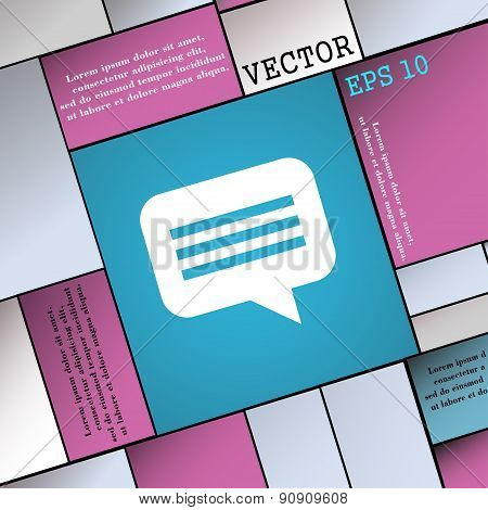 Speech Bubble, Chat Think  Icon Sign. Modern Flat Style For Your Design. Vector