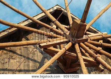 Closeup Image Of A Windmill