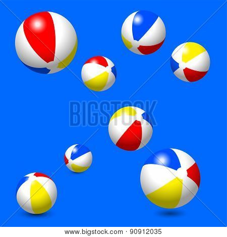 Eight Classic Beach Balls