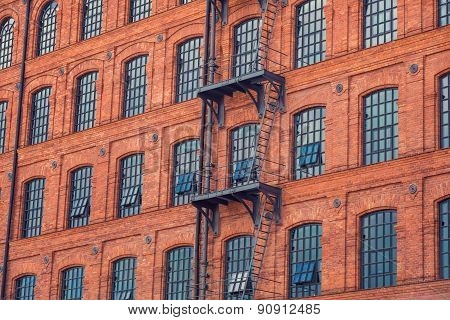 windows on old building background