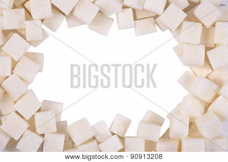 Frame Of White Refined Sugar