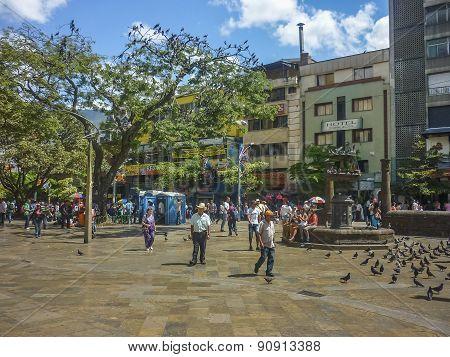 Botero Square In Medellin Colombia