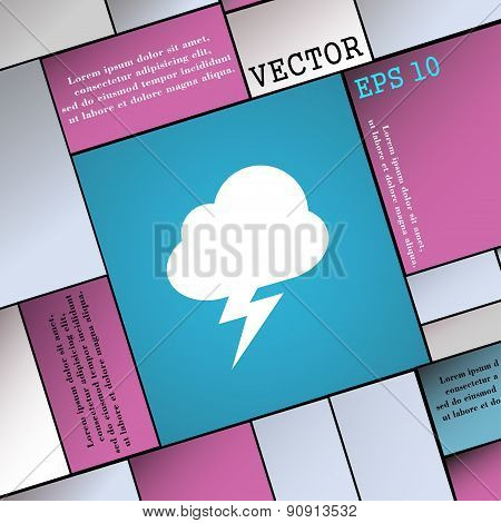 Storm  Icon Sign. Modern Flat Style For Your Design. Vector