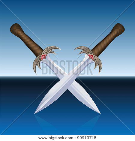 Crossed Swords Pirates Blue Sea