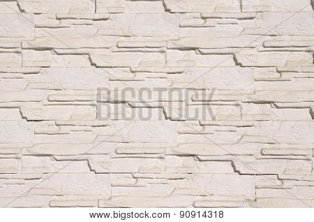 White Cladding Tiles Imitating Stones
