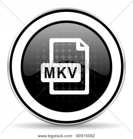 mkv file icon, black chrome button