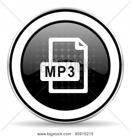 mp3 file icon, black chrome button