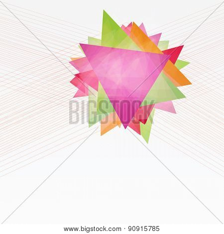Abstract Background with Triangles and Lines. Annual Report Concept