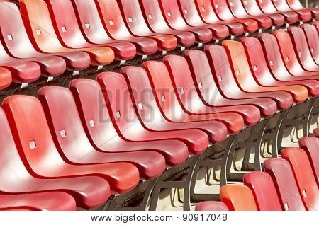 Rows Of Seats In A Sports Stadium