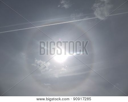 Halo Effect Around The Sun
