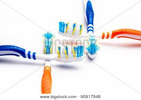 toothbrush new and used