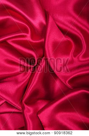 Smooth Elegant Burgundy Silk Or Satin As Background
