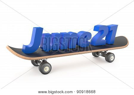 Go Skateboarding Day Concept