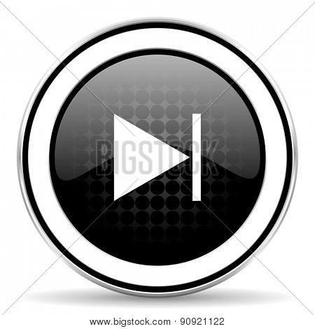 next icon, black chrome button